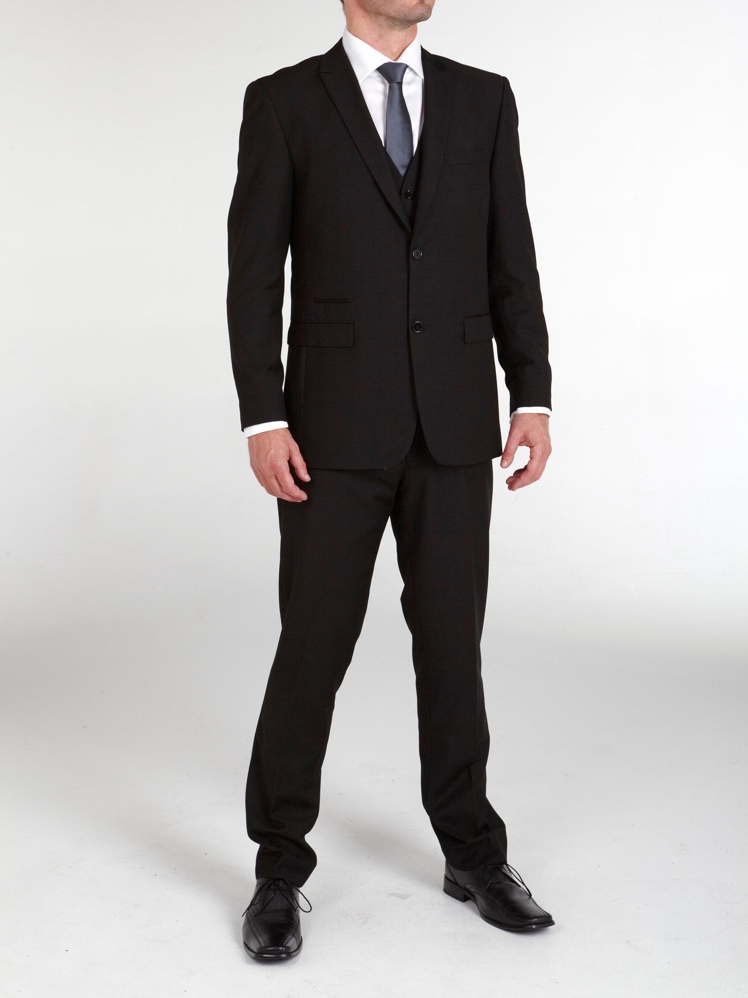 Madrid 3 Piece Black Suit