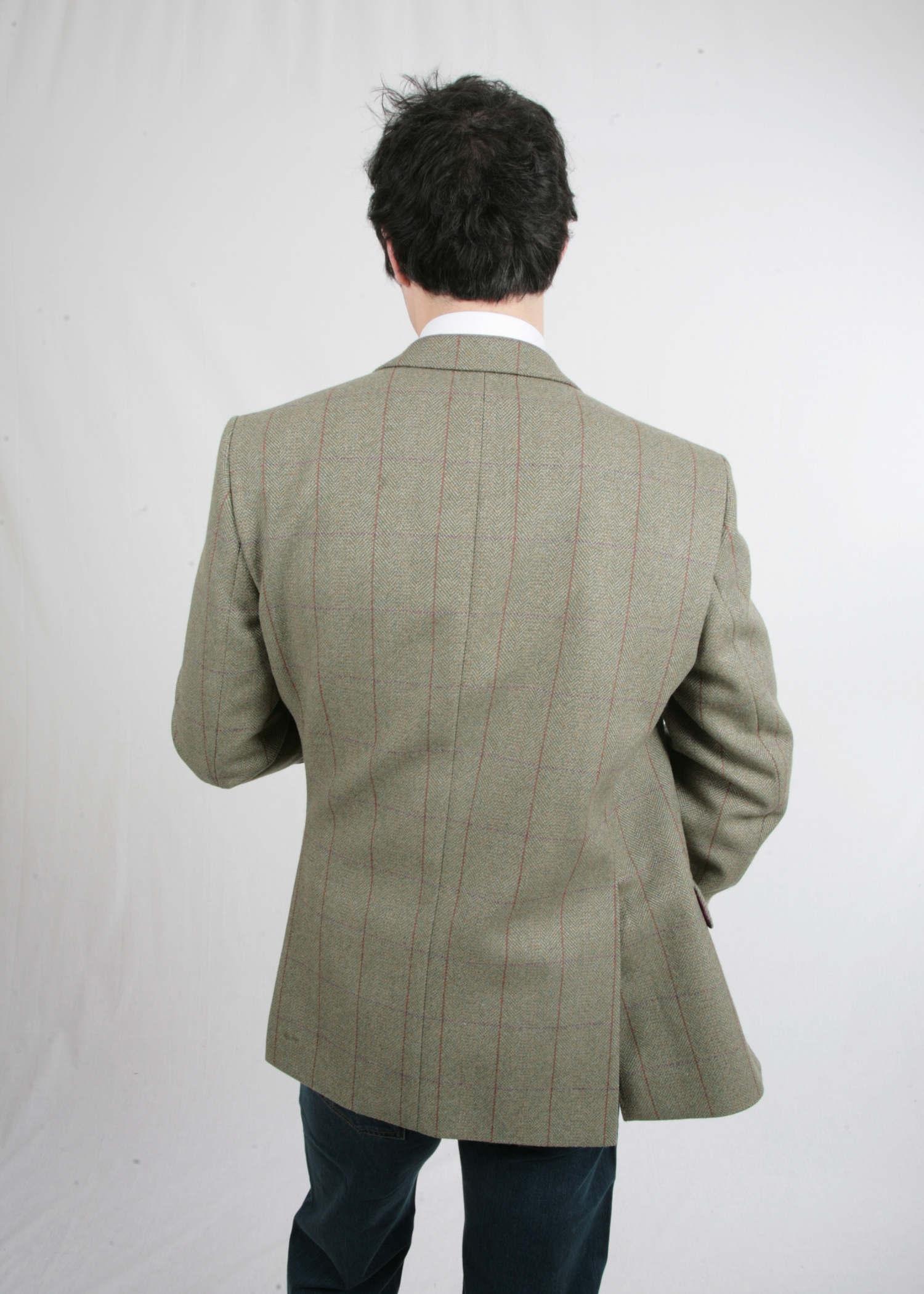Moss Green with Box pattern