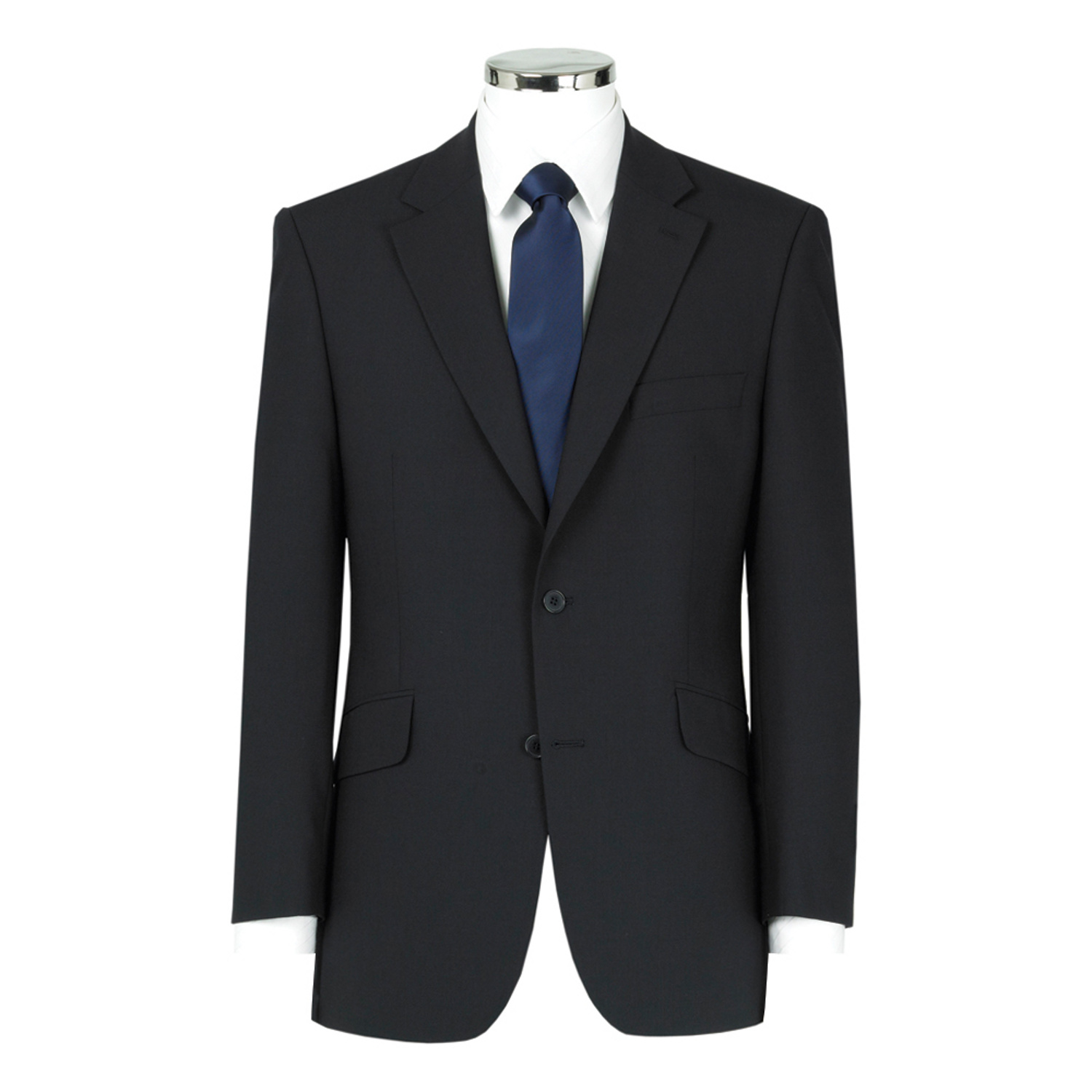 Navy 3 Piece Wool Mix Suit