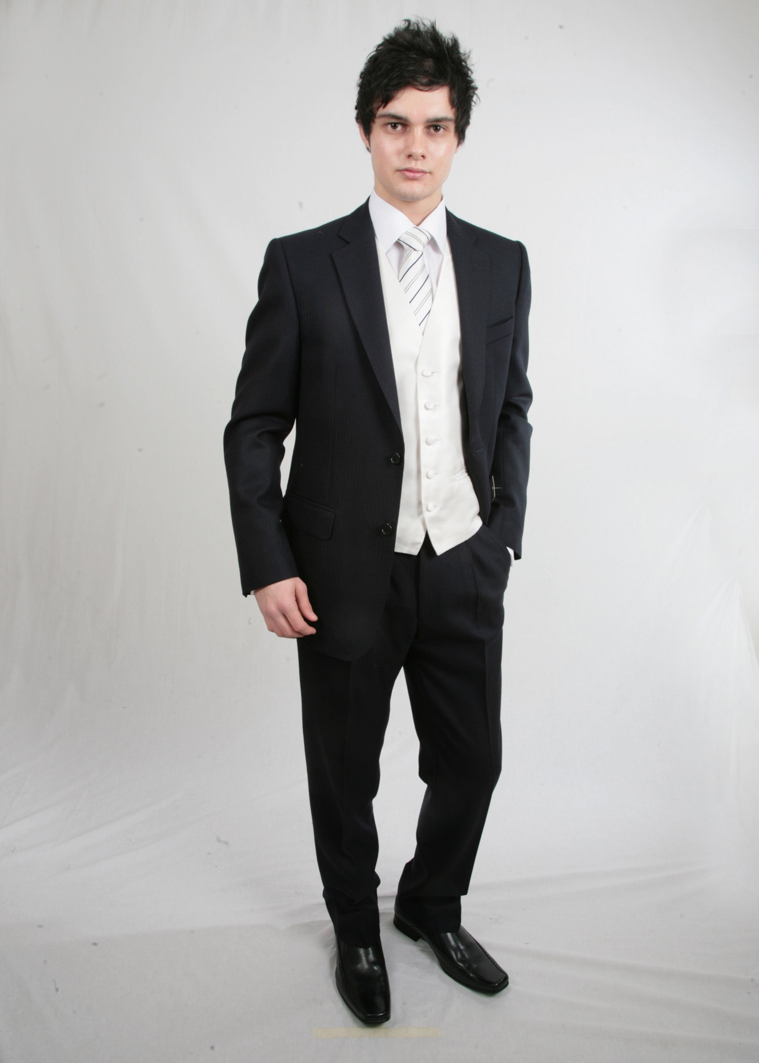 Navy Herringbone Morning Suit to Hire