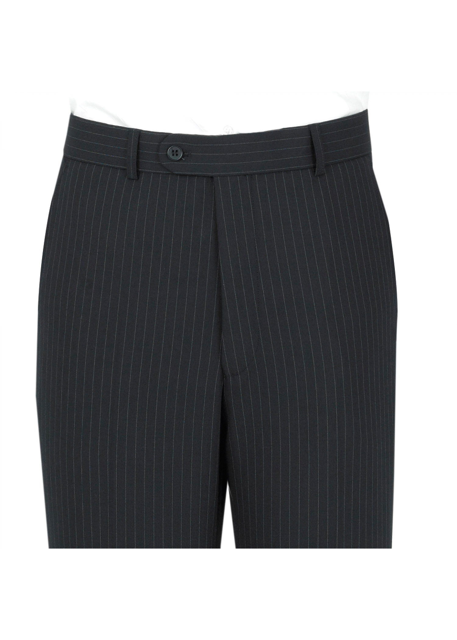 Striped Navy Suit Trousers