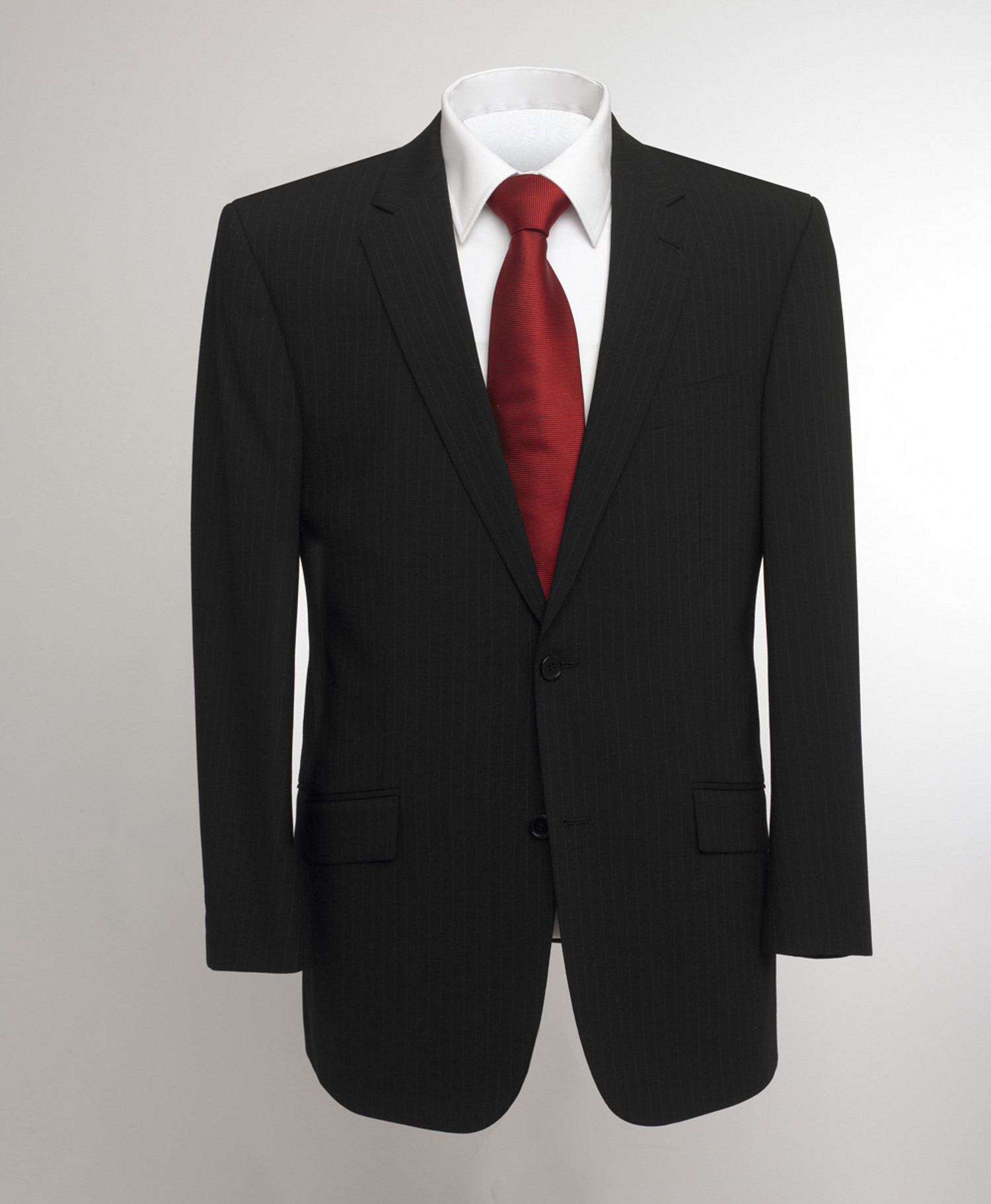 Oslo Three Piece Black Stripe Suit