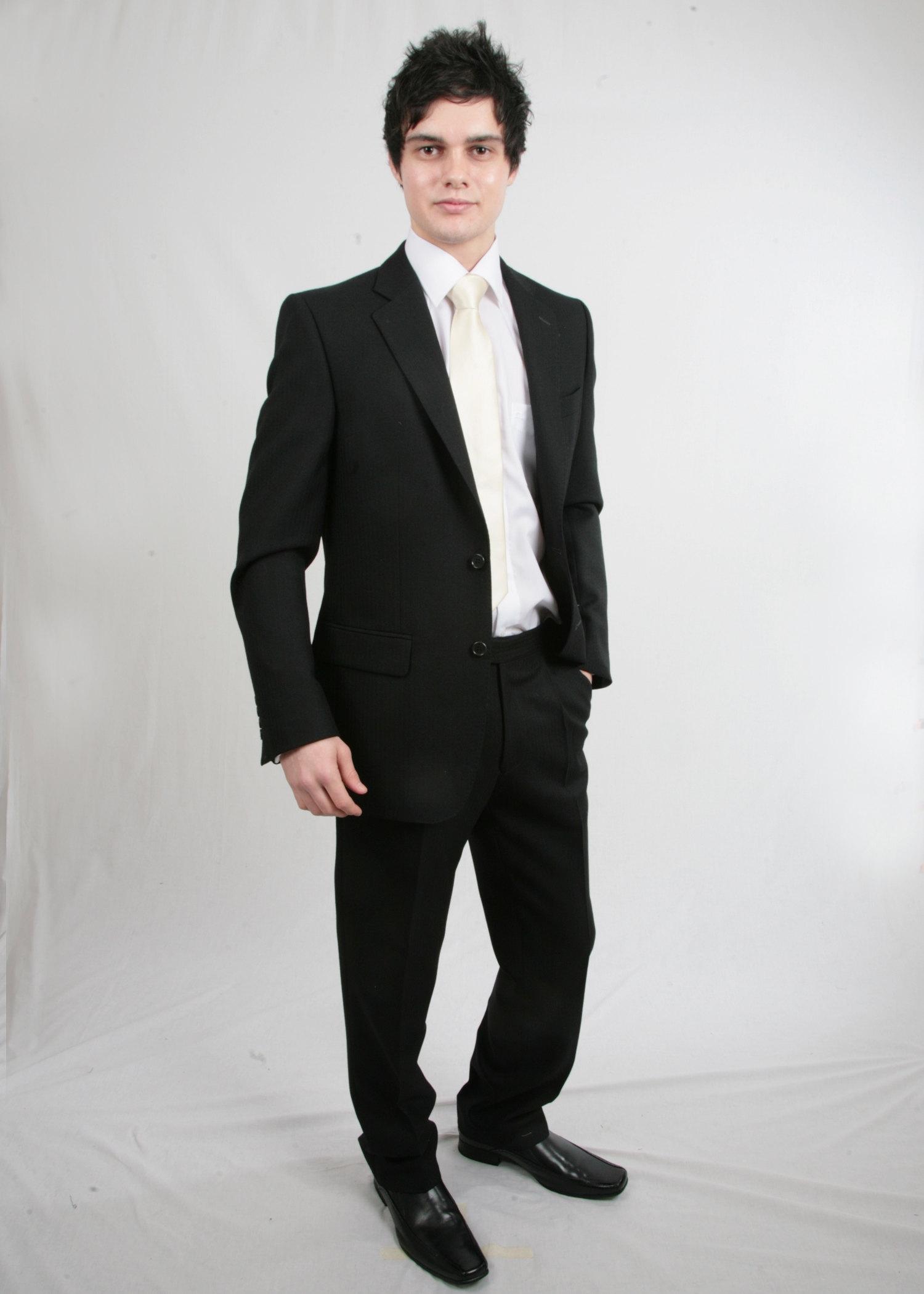 Short Black Morning Suit Hire