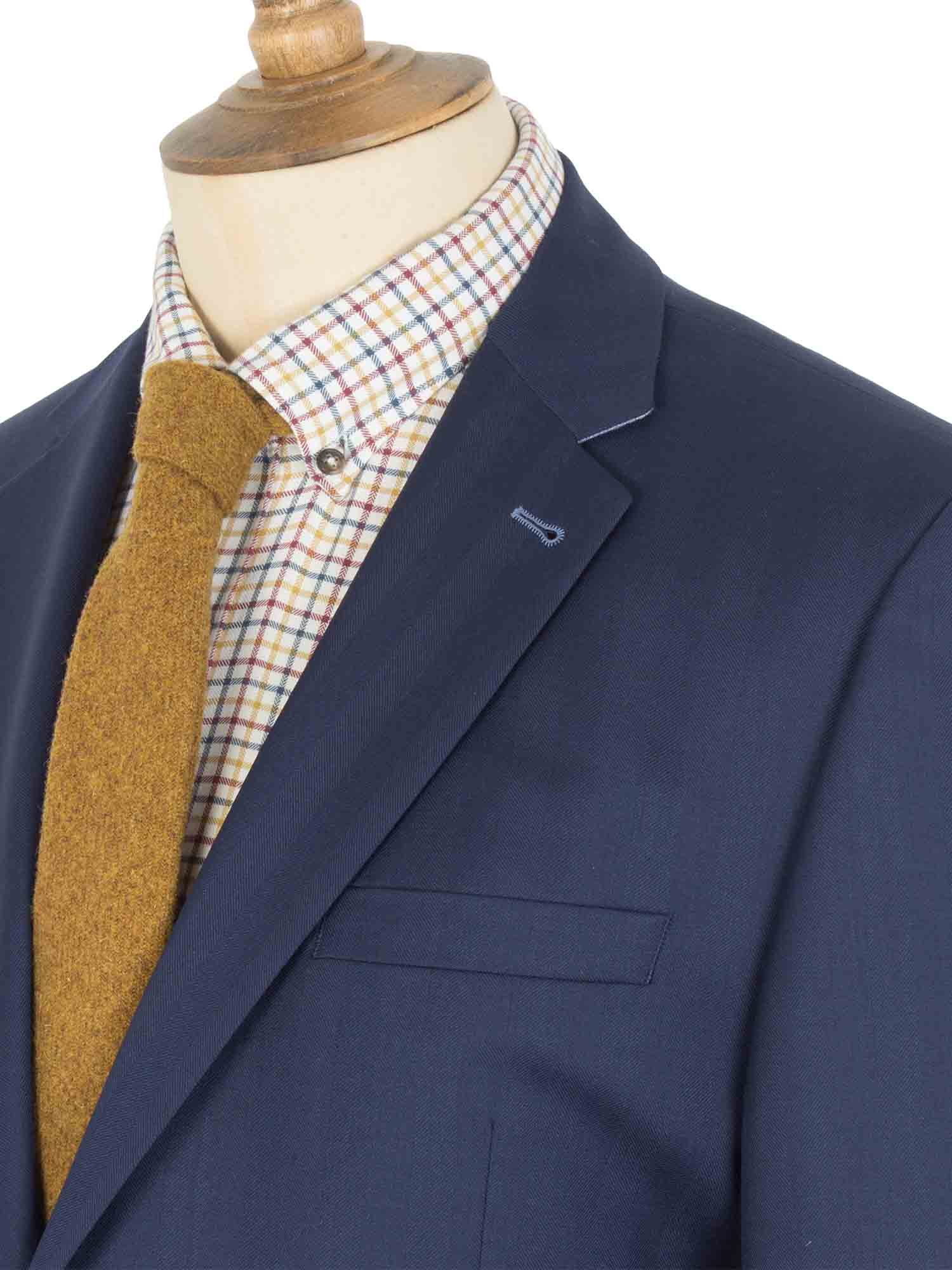 Dark Navy Tweed Suit