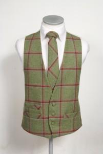 c6de402ce90e Green red check tweed waistcoat - Tom Murphy's Formal and Menswear