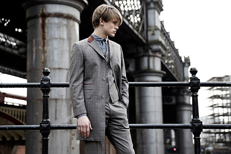 Rust overcheck jacket also available as a suit from Tom Murphys