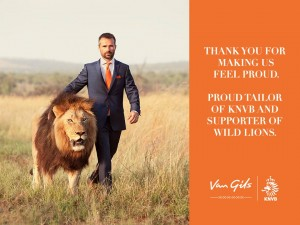 Kevin Richardson sports Van Gils while walking and playing football with Lions in South Africa