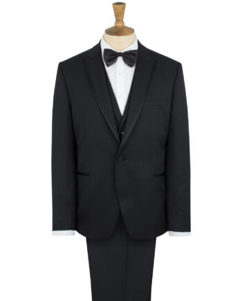 One Button Slim Tuxedo with Peaked Lapel