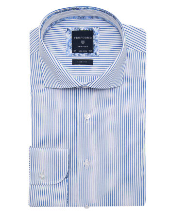 Profuomo Blue Pin Stripe Shirt PPMH1A0036