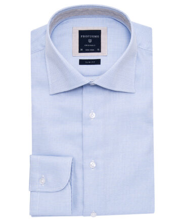 Profuomo Light Blue Striped Shirt PPMH1A0068