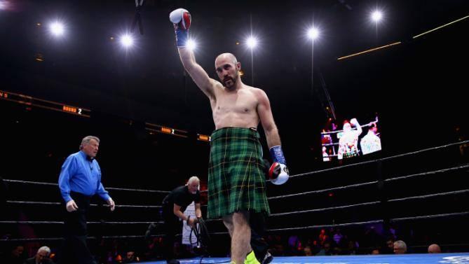 Spike wearing his Pride Of Ireland Kilt supplied by Tom Murphy Menswear