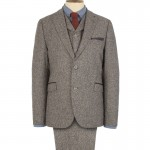 Brown Donegal 3 Piece Suit