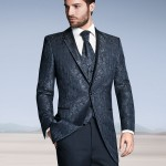 Jacket and waistcoat with royal arabesque stripes