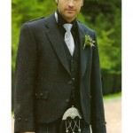 Grey Tweed Jacket with Granite Kilt