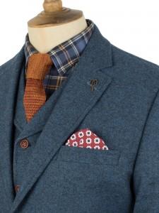 Blue Donegal Tweed Suit