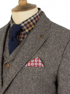 Taupe Donegal Tweed Suit