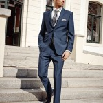 Azure Blue 3 piece suit