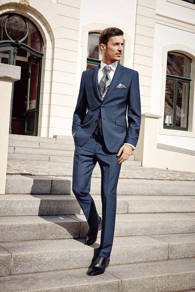 After Six 2016 Azure Blue 3 piece suit