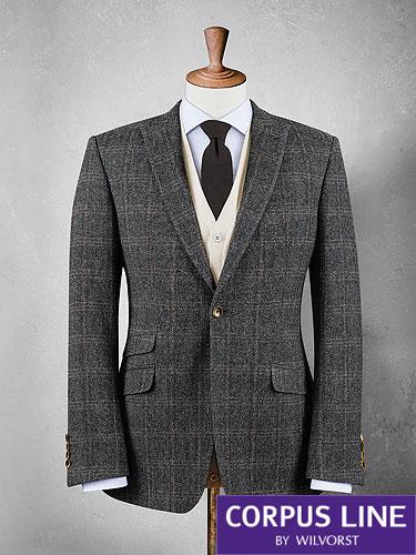 grey check wool