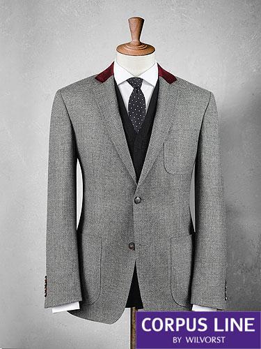 contrast collar jacket