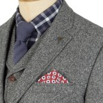 Silver Grey Donegal Tweed Suit