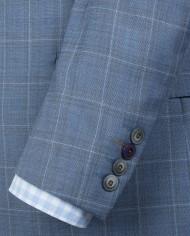 Blue Windowpane Check Suit Jkt G16114NMJ – Shirt G16154MS – Vest G16114MV – Tie G16173TE – Hank G16176HK_E