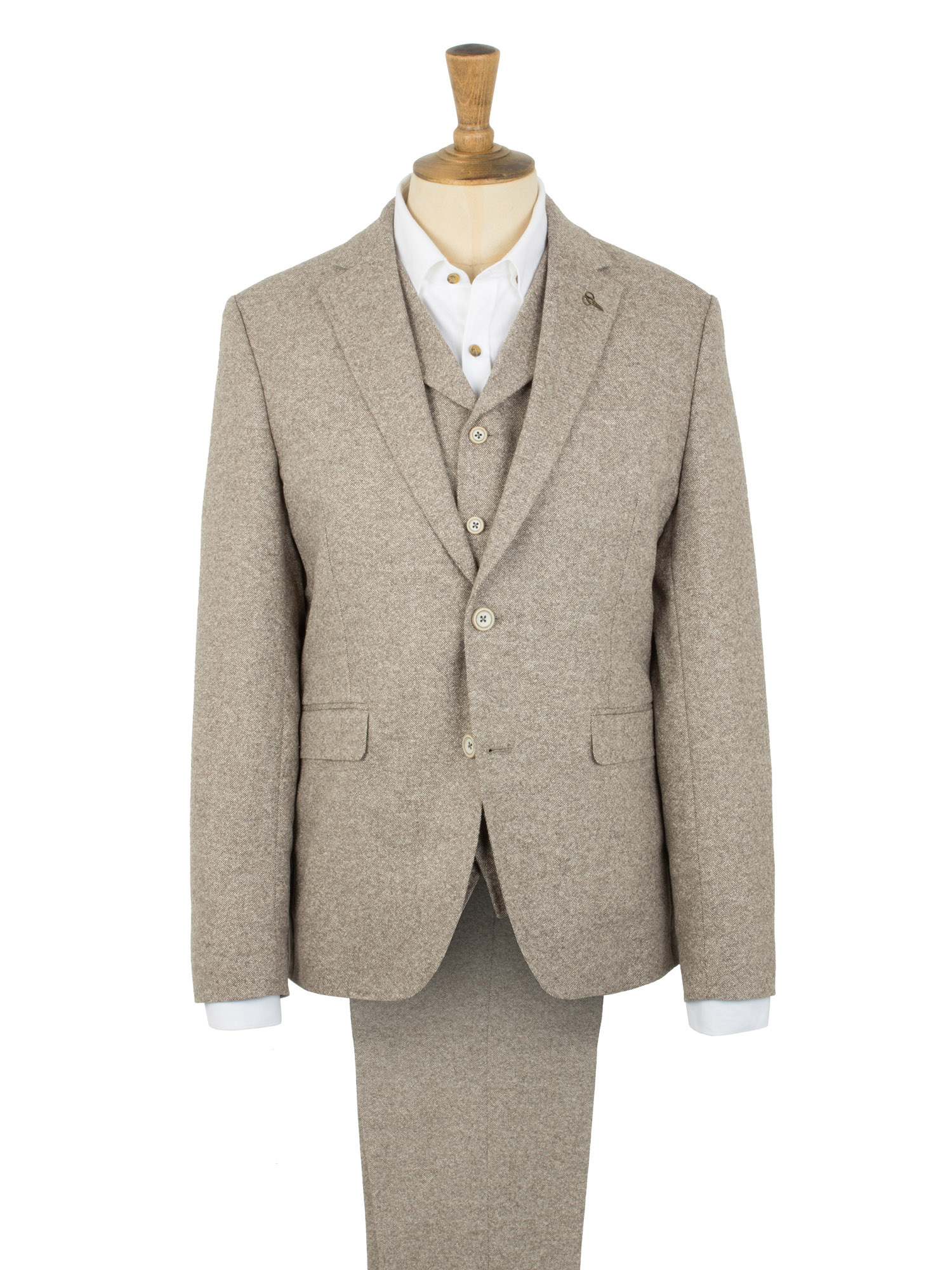 Make a polished impression in these classic oatmeal tweed skinny suit pants. Featuring a zip fly with hook fastening and belt loops. 60% Wool, 40% Polyester. Do not trickytrydown2.tk: $
