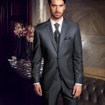 Blue Grey 3 piece suit
