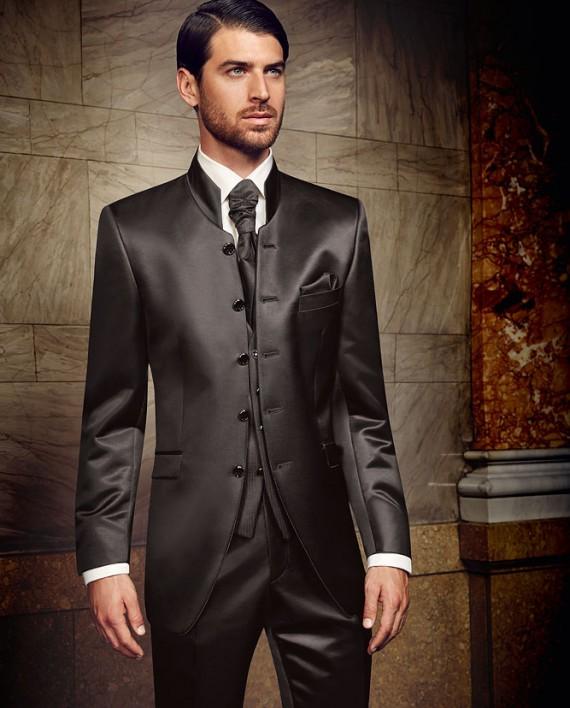 Prestige 2016 Stand-up collar jacket 3 piece suit