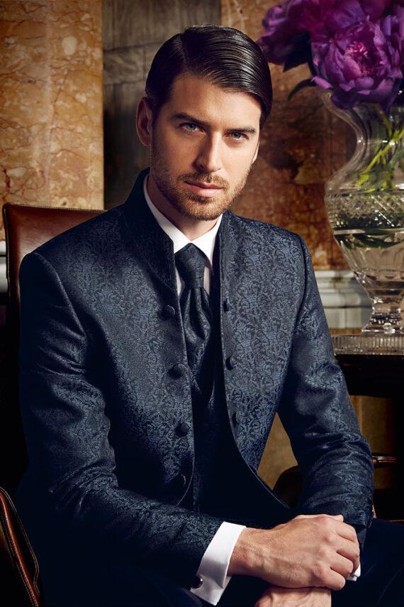 Prestige 2016 Blue Jacquard 3 piece suit