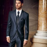 Contrast Blue 3 piece suit