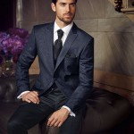 Premium Blue Patterned 3 piece suit