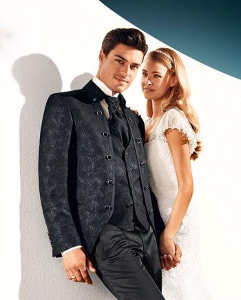 TZIACCO 2016 Jacquard pattern 3 piece suit