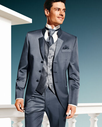 TZIACCO 2016 grey blue 3 piece suit