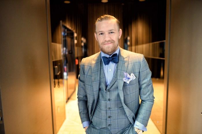 conor mcgregor in check suit