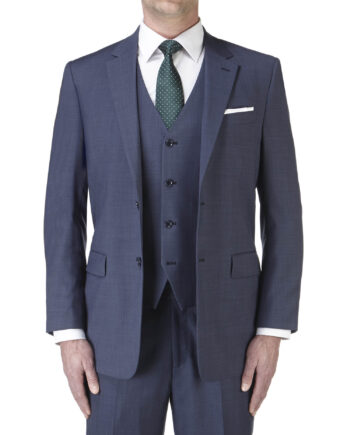 Palmer Suit Blue 3 piece Wedding Suit