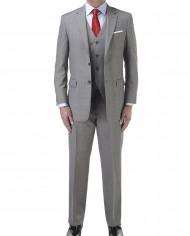 Palmer Suit Silver 3 Piece Wedding Suit