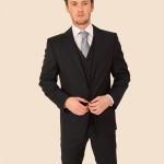 Navy Extra fine Merino Wool Suit