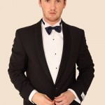 Black Fresco Fabric 3 Piece Shawl Collar Tuxedo