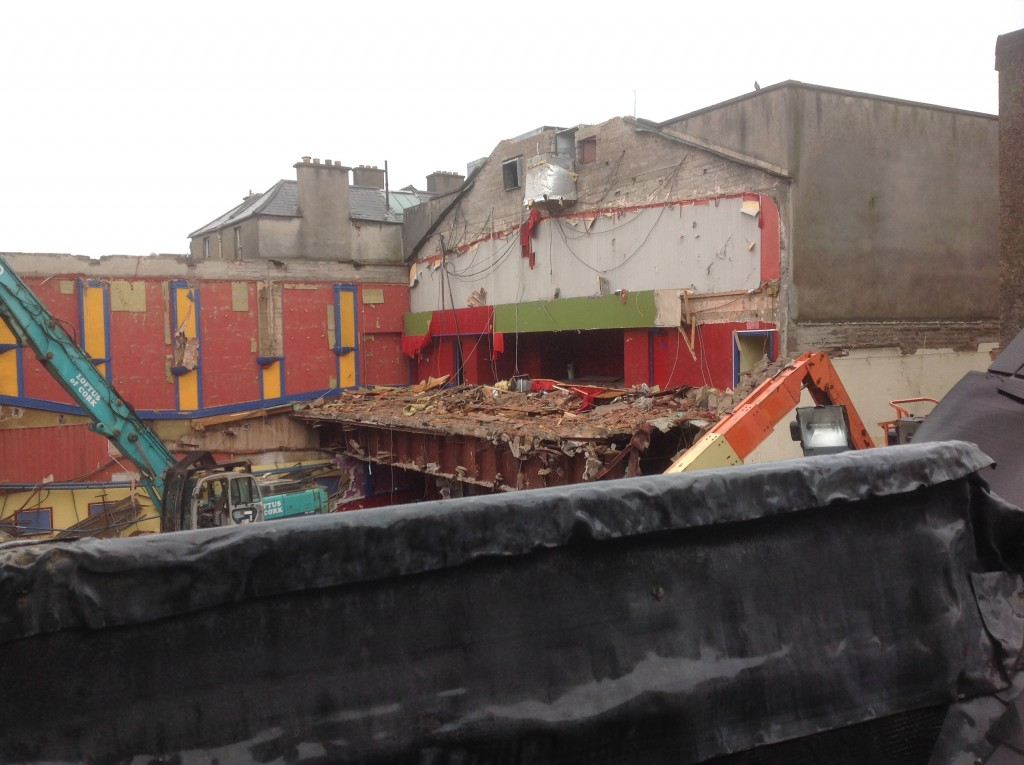 View out the back of Tom Murphys onto old capitol cinema site