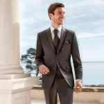 Grey slim line 3 piece suit