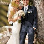 Blue 3 piece wedding suit