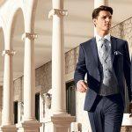 Sapphire Blue slim line 3 piece suit
