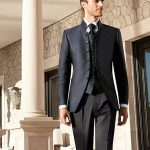 Midnight Blue wedding suits 3 piece