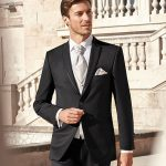 Timeless black 3 piece wedding suit