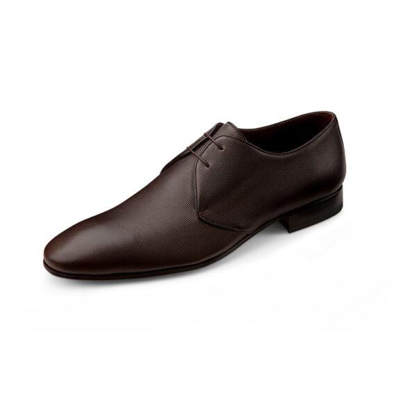 Brown textured shoe Wilvorst 2016_448315-60_Model-0291