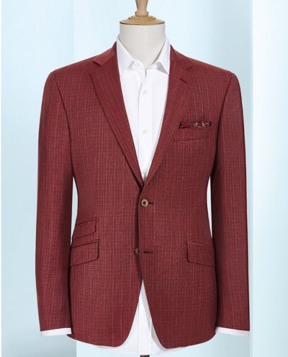 Red check 2 piece suit
