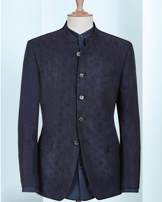 Blue Floral Pattern, 6 button, 2 piece suit