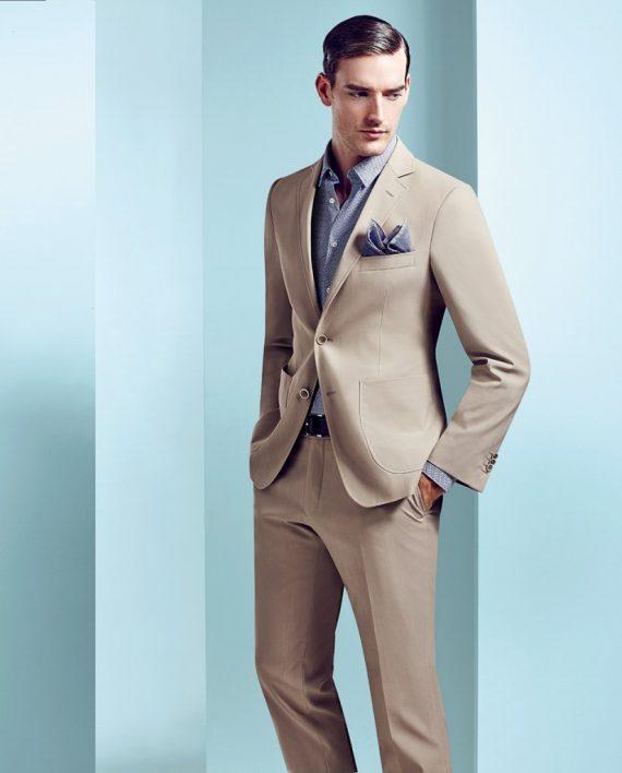 Beige 2 piece suit