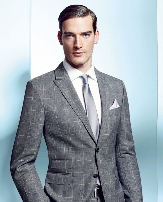 Light Grey window-pane check suit